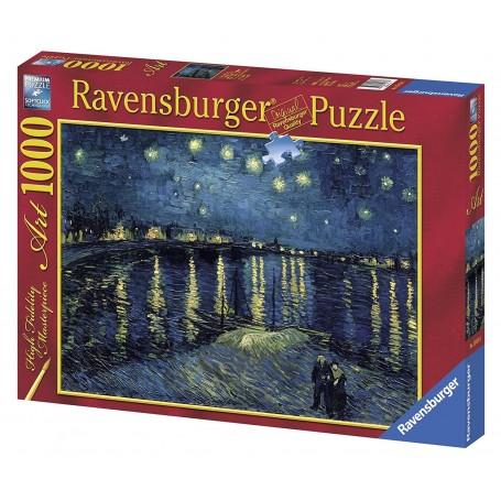 Puzzle Ravensburger Noche estrellada sobre el Ródano de 1000 piezas
