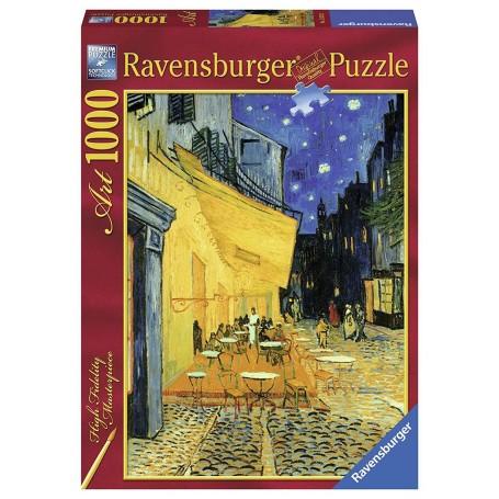 Puzzle Ravensburger Terraza de café por la noche de 1000 piezas