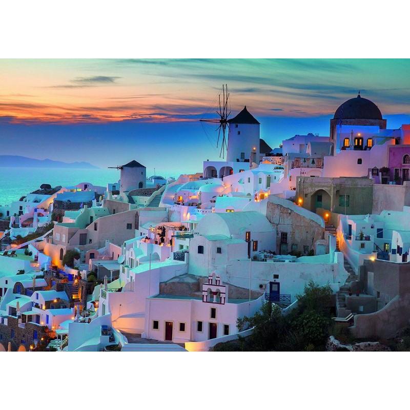 Puzzle Ravensburger Tarde en Santorini de 1000 piezas