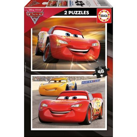 Puzzle Educa Cars 3 de 2 x 48 piezas