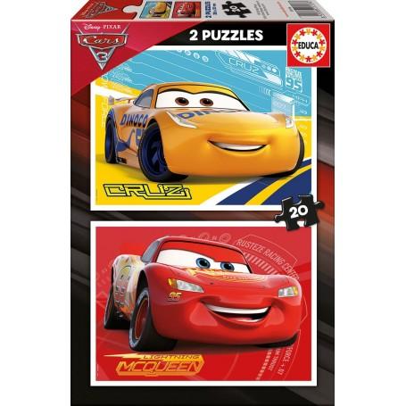 Puzzle Educa Cars 3 de 2 x 20 piezas