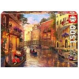 Puzzle Educa Atardecer en Venecia de 1500 piezas