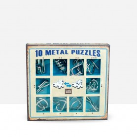 10 Metal Puzzles Blue