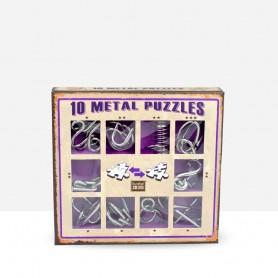 10 Metal Puzzles Purple