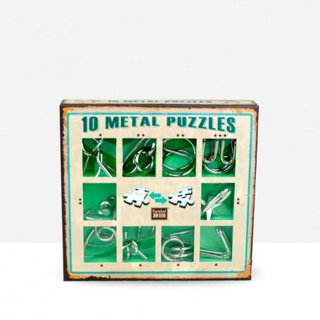 10 Metal Puzzles Green
