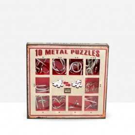 10 Metal Puzzles Red
