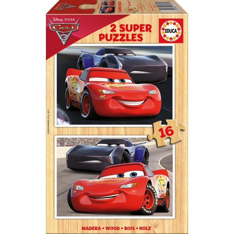 Puzzle Educa Cars 3 de 2 x 16 piezas