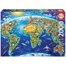 Puzzle Educa Símbolos del Mundo 2000 piezas