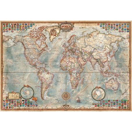 Puzzle Educa El Mundo, Mapa Político (Mini) 1000 piezas