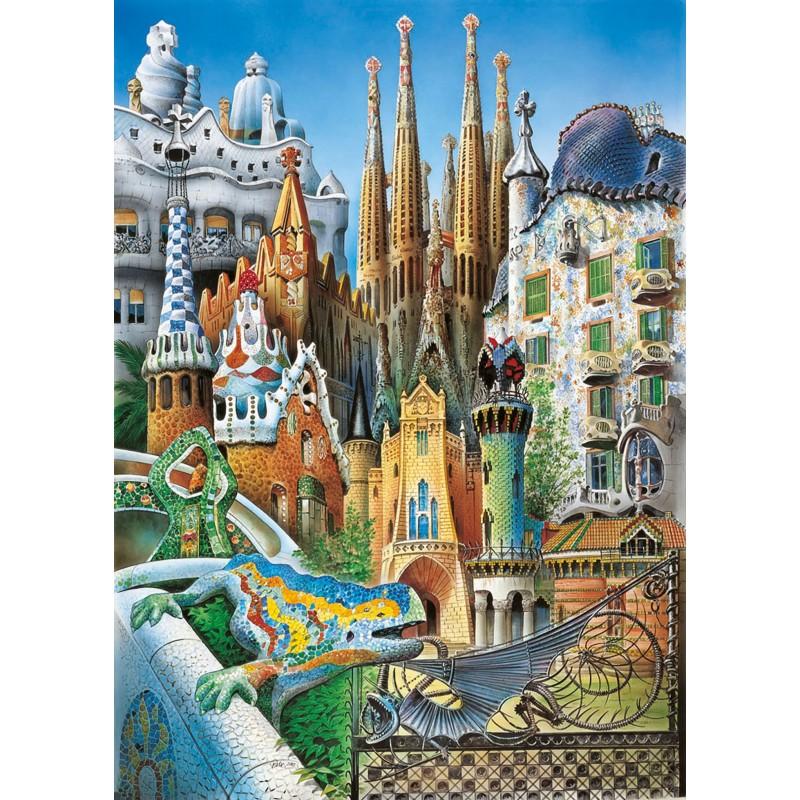 Puzzle Educa Collage Gaudí (Mini) 1000 piezas