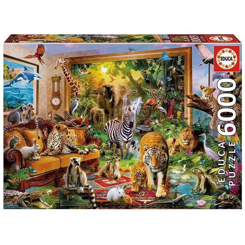 Puzzle Educa Entrando en la habitación de 6000 piezas
