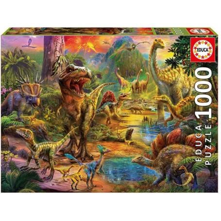 Puzzle Educa Tierra de dinosaurios de 1000 piezas