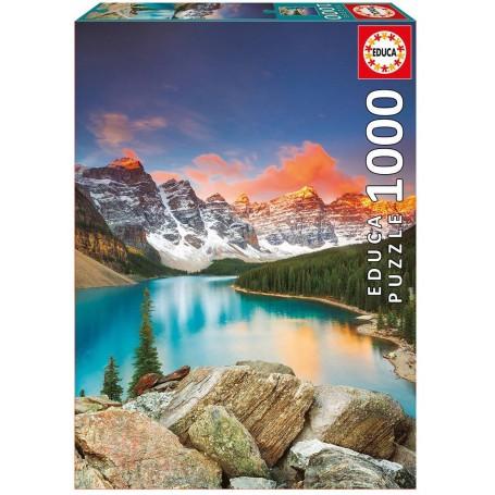 Puzzle Educa Lago Moraine, Banff National Park, Canadá de 1000 piezas