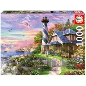 Puzzle Educa Faro en Rock Bay de 1000 piezas