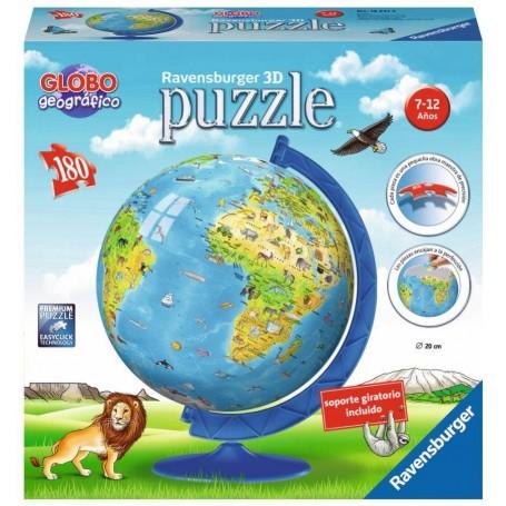 Puzzle 3D Ravensburger Globo Terráqueo New Edition de 180 piezas