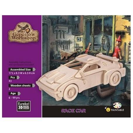 Gepetto's Coche de carreras Puzzle 3D