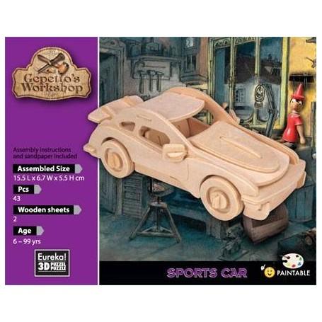 Gepetto's Coche deportivo Puzzle 3D