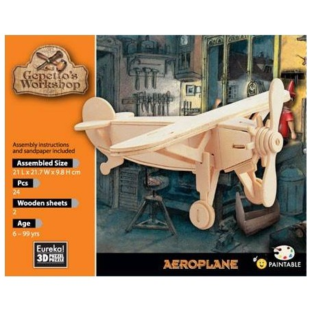 Gepetto's Aeroplano Puzzle 3D