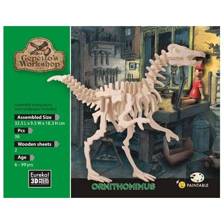 Gepetto's Ornithomimus Puzzle 3D