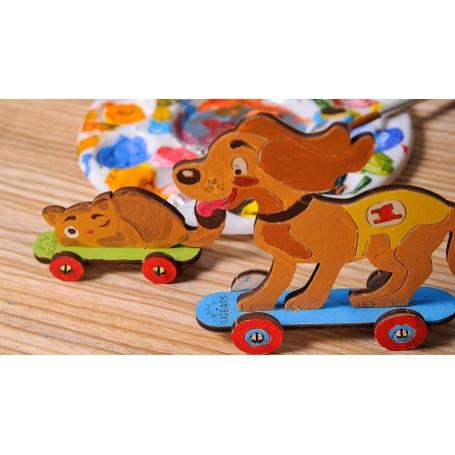 UgearsModels - Gatito y Cachorro Puzzle 3D