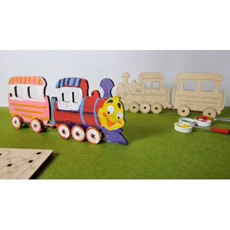 UgearsModels - Locomotora Puzzle 3D