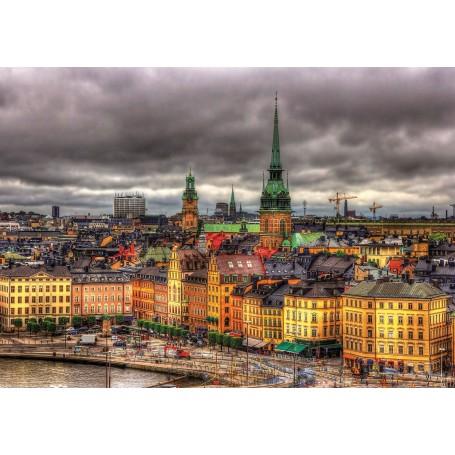 Puzzle Educa Vistas de Estocolmo, Suecia de 1000 piezas