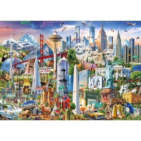 Puzzle Educa Símbolos de Norte América de 1500 piezas