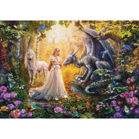 Puzzle Educa Dragón, Princesa y Unicornio de 1500 piezas