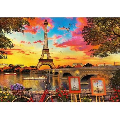 Puzzle Educa Puesta de sol en París de 3000 piezas