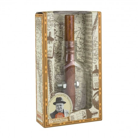 Churchill Cigar and Whisky Bottle Puzzle