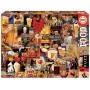 Puzzle Educa Collage de Cerveza Vintage de 1000 piezas