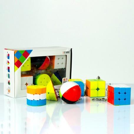 Pack Z-Cube 6 Llaveros Cubo Rubik