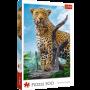 Puzzle Trefl Leopardo Salvaje de 500 Piezas