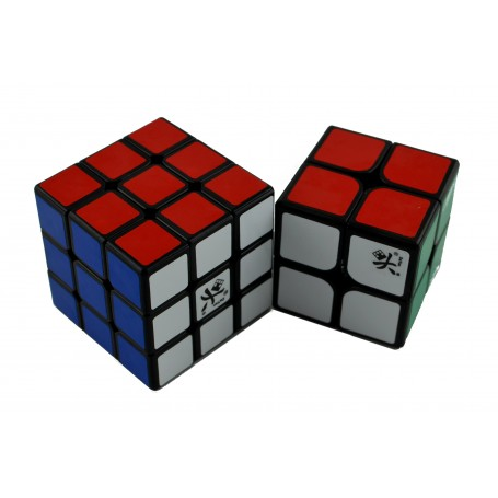 Pack 2x2 + 3x3 Dayan (Base Negra)
