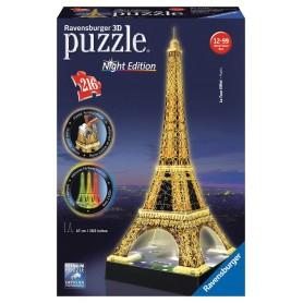 Puzzle Ravensburger Torre Eiffel 3D Con Luz
