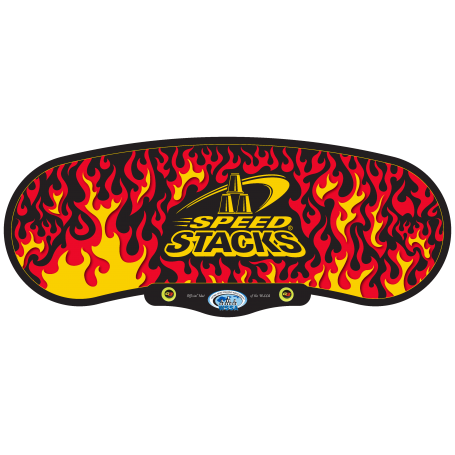 Stack Mat Black Flames