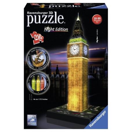 Puzzle Ravensburger 3D Big Ben con luz 216 Piezas