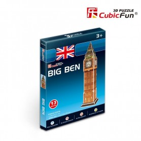 Puzzle 3D Big Ben Mini Cubic Fun 13 Piezas
