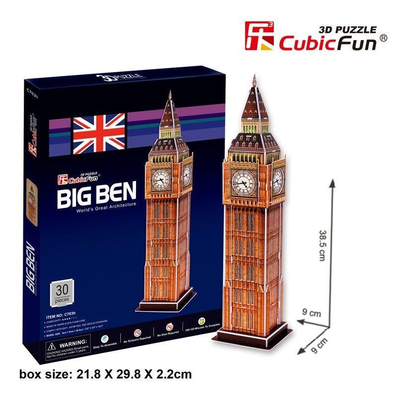 Puzzle 3D Big Ben Cubic Fun 30 Piezas