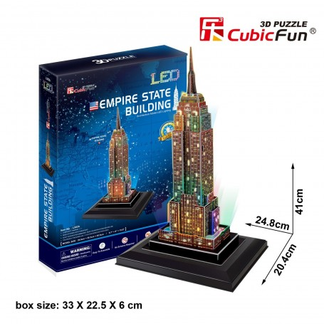 Puzzle 3D Empire State Building con led Cubic Fun 38 Piezas