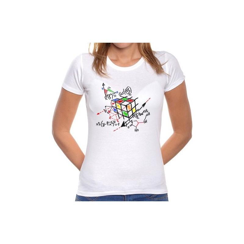 Camiseta Chica Cubo de Rubik Matemáticas