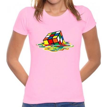 Camiseta Chica Cubo de Rubik Derretido
