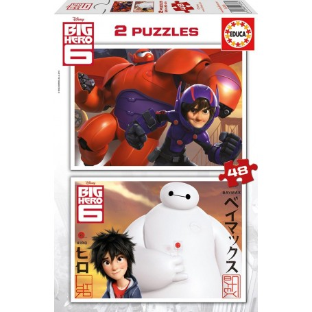 Puzzle Educa Big Hero 6 2x48 Piezas