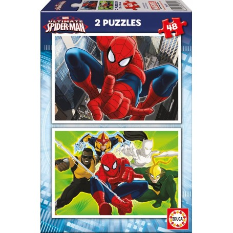 Puzzle Educa Ultimate Spiderman 2 x 48 Piezas