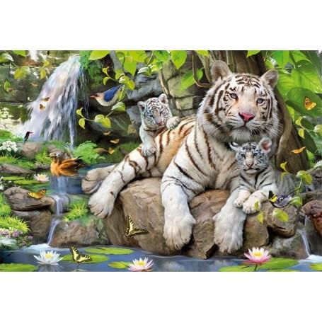 Puzzle Educa Tigres Blancos De Bengala 1000 Piezas