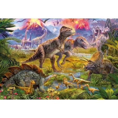 Puzzle Educa Encuentro De Dinosaurios 500 Piezas