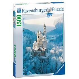Puzzle Ravensburger Neuschwanstein en invierno de 1500 Piezas