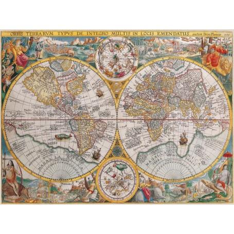 Puzzle Ravensburger Mapa del mundo 1594 de 1500 Piezas