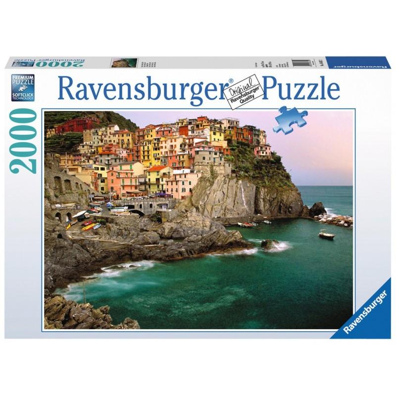Puzzle Ravensburger Conque Terre, Italia de 2000 Piezas