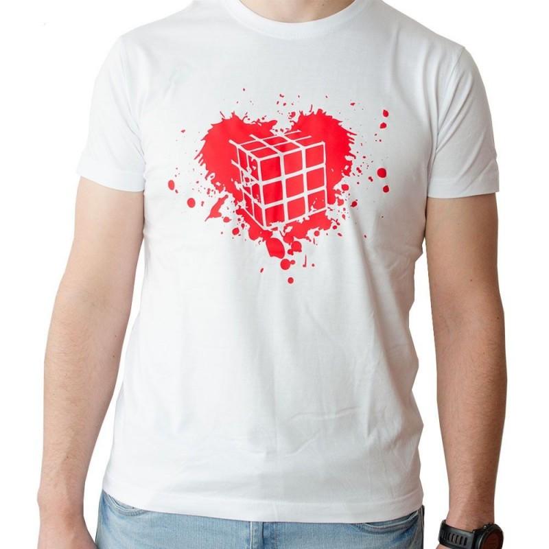 Camiseta Cubo de Rubik Corazón